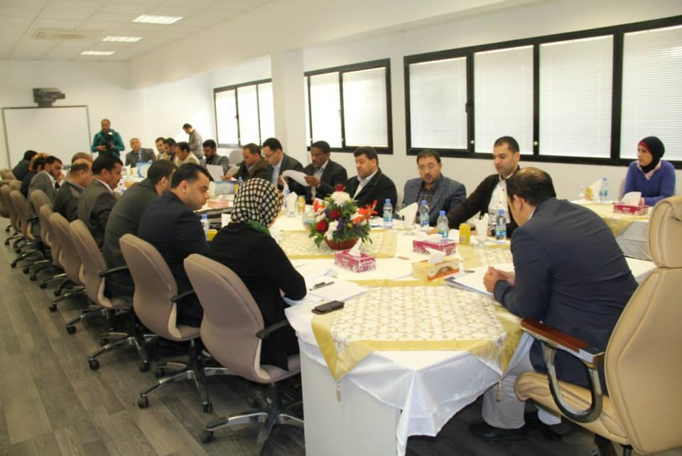 اجتماع رؤساء وحدات التدريب بفروع صندوق الضمان الاجتماعي