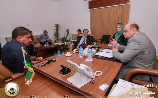 فريق الإعلام بالإدارة العامة يزور فرع غرب بنغازي