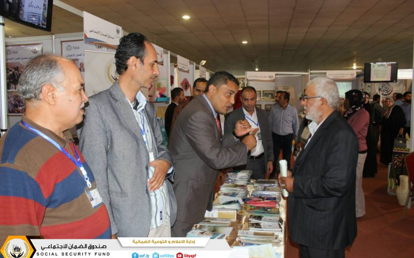 اقبال على جناح صندوق الضمان الاجتماعي بمعرض طرابلس الدولي