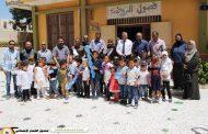فرع درنة يتجول داخل معرض روضة الطفل النموذجي بمدينة درنة
