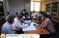 المكتب الخدمي الاصابعة في زيارة لادارة الشؤون المالية