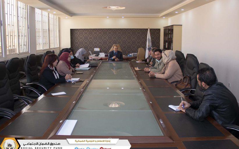 وفد ضماني يكرم إدارة القضايا ـ فرع بنغازي
