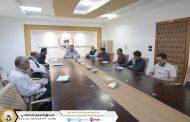 لجنة الأشراف ومتابعة سير الإمتحانات تجتمع بإدارة الشؤون الإدارية والخدمات